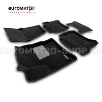 Текстильные 3D коврики Euromat3D Business в салон для Volkswagen Touareg (2010-2017) № EMC3D-004101
