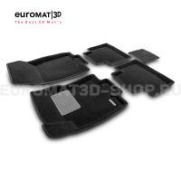 Текстильные 3D коврики Euromat3D Business в салон для Nissan X-Trail (T32) (2015-) № EMC3D-003724