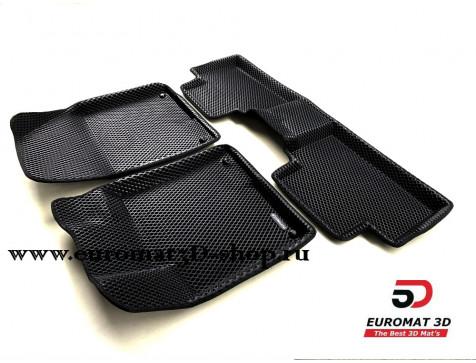 3D коврики Euromat3D EVA в салон для Geely Coolray (2019-) № EM3DEVA-001407