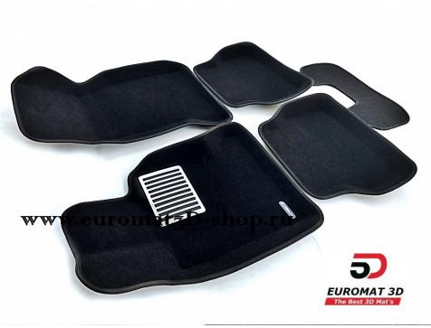 Текстильные 3D коврики Euromat3D Lux в салон для Bmw 5 (E39) (1995-2003) № EM3D-001204